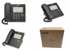 New In Box Vtech VSP861 ErisTerminal SIP Color TouchScreen 8 line Desk Phone